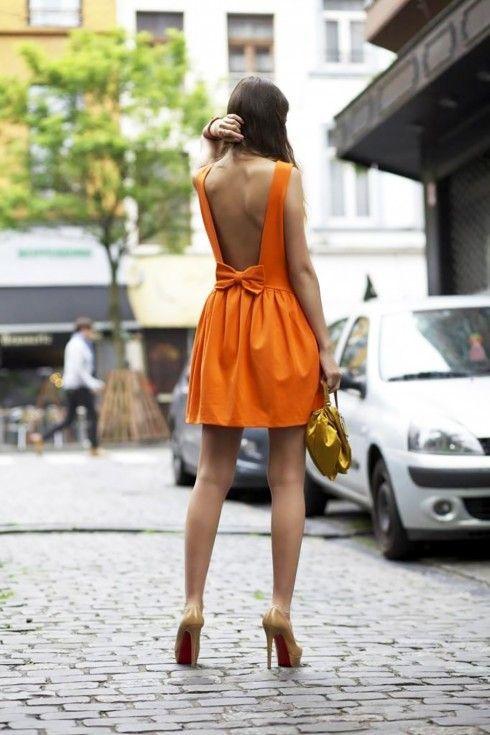 2019 ilkbahar yaz turuncu elbise modası