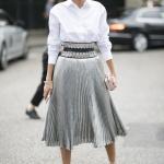 2019 sokak modası midi boy etekler