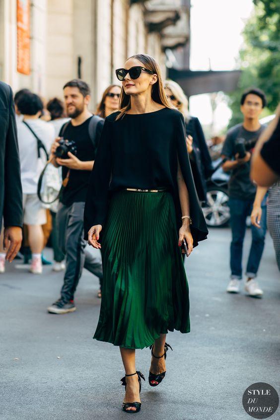 2019 sokak modası midi etek modelleri