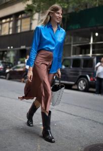 2019 sokak stilleri kovboy çizmeleri