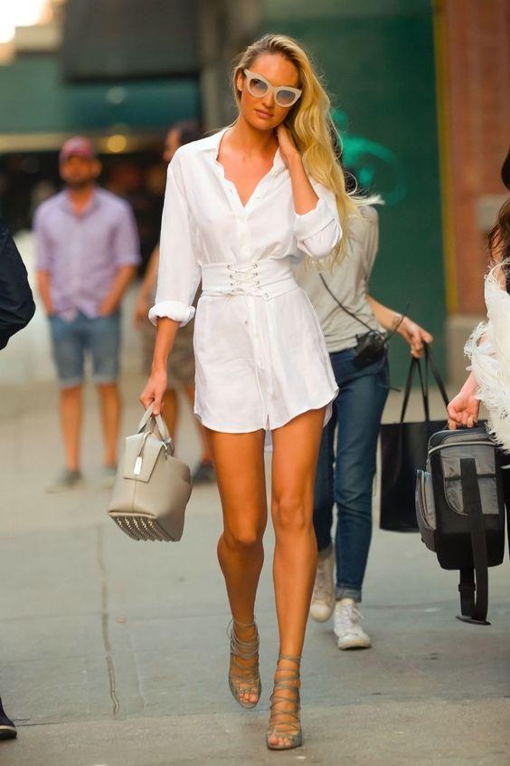 2019 Yaz gömlek elbise kombinleri