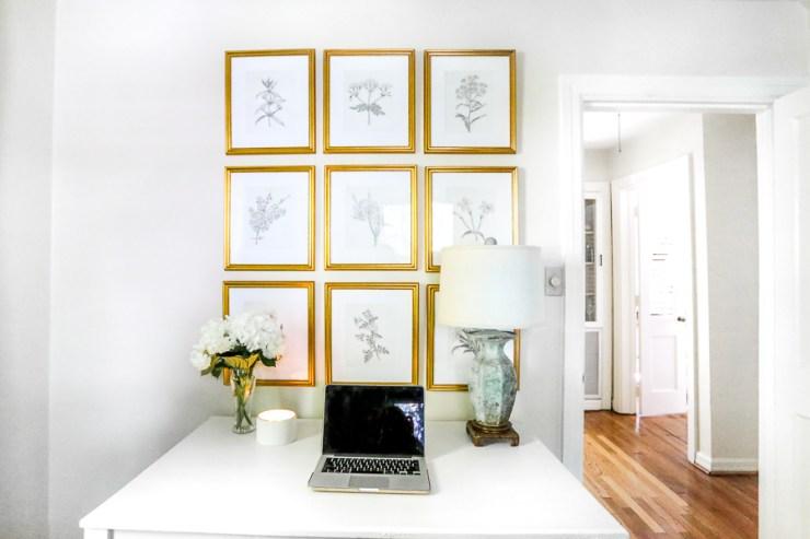 altın rengi ev dekorasyon öneleri - çerçeveler