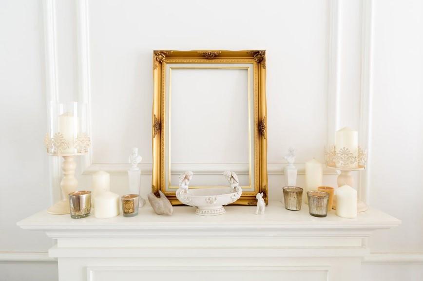 Altın rengi ev dekorasyon önerileri - aynalar