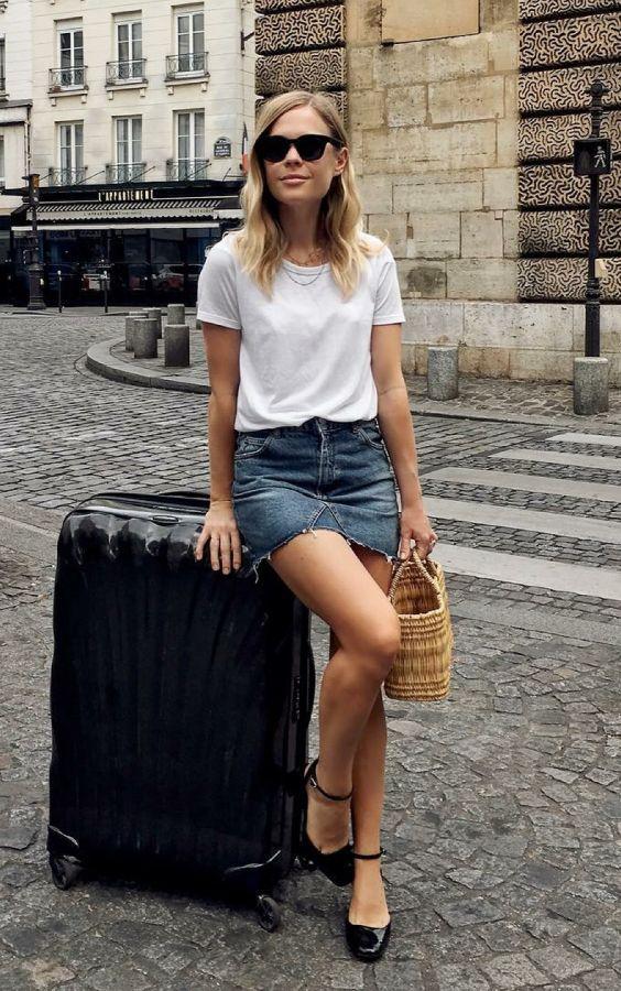 basic tişört kot etek sokak stili 2019