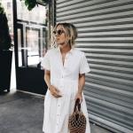 Beyaz gömlek elbise kombinleri 2019