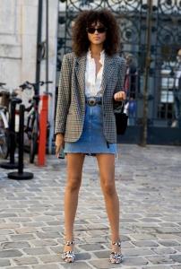 Blazer ceket kot etek sokak stili 2019