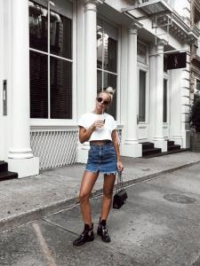 Crop-top kot etek sokak stili 2019