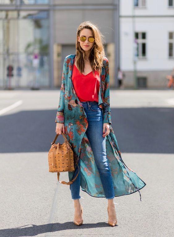 En guzel kimono ceket kombinleri 2019