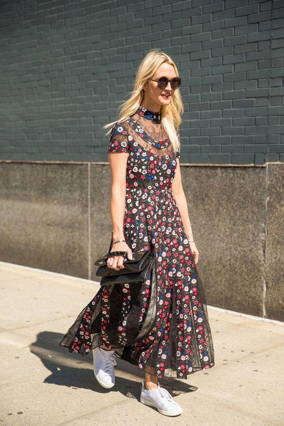 İlkbahar yaz çiçek desenli elbiseler 2019