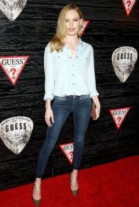 Kate Bosworth cool double denim stili