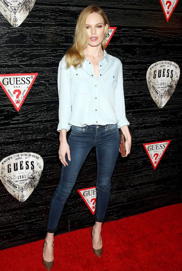 Kate Bosworth cool double denim stili