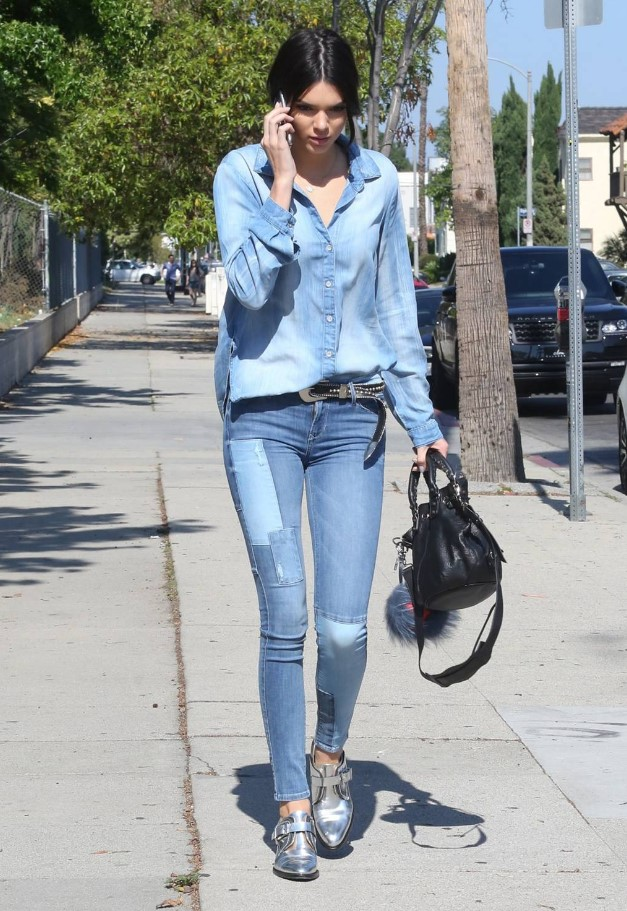 Kendall Jenner Denim sokak stili