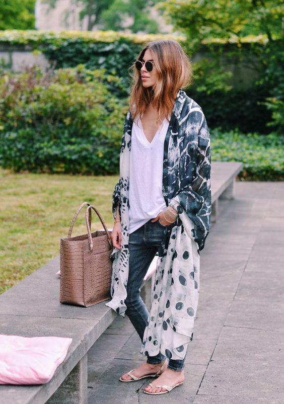 Kimono ceketlerle hareketli sokak stilleri 2019