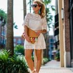 Kısa beyaz elbise kombinleri 2019
