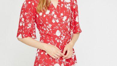 Koton belden bağlamalı kırmızı çiçekli elbise fiyatı ₺69,99