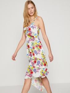 Koton çiçek desenli beyaz elbise fiyatı ₺59,99