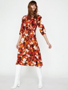 Koton yazlık fırfır detaylı elbise fiyatı ₺99,99
