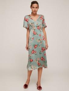 Koton yazlık midi yeşil desenli elbise fiyatı ₺79,99