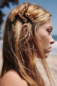 Leopar desenli saç tokası