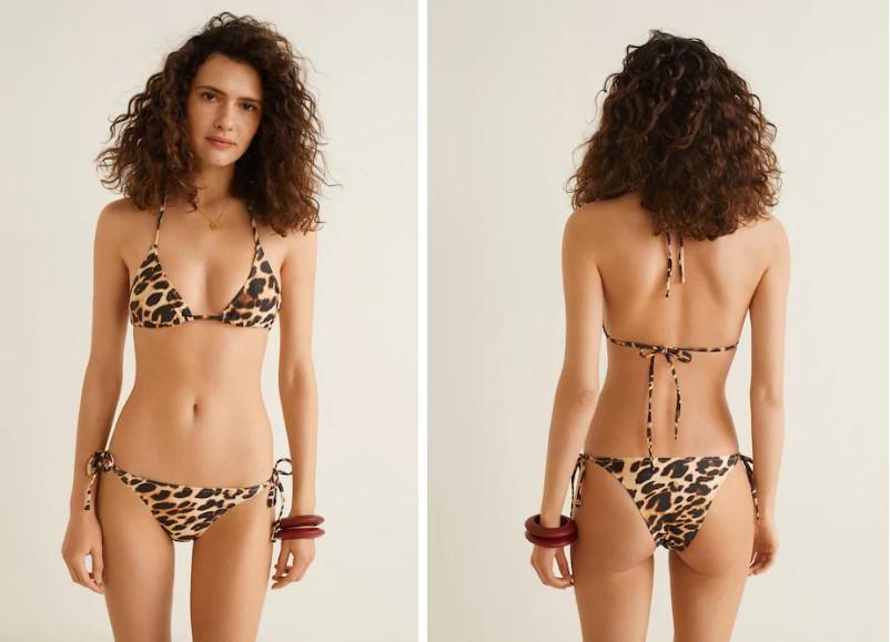 Mango leopar desenli bikini modelleri 2019