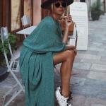 Maxi elbise spor ayakkabı kombini 2019