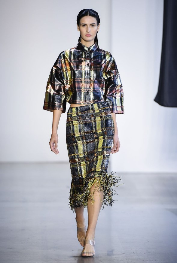 Metalik Ekose 2019 ilkbahar yaz modası