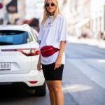 Sokak modası beyaz tisört kombinleri 2020