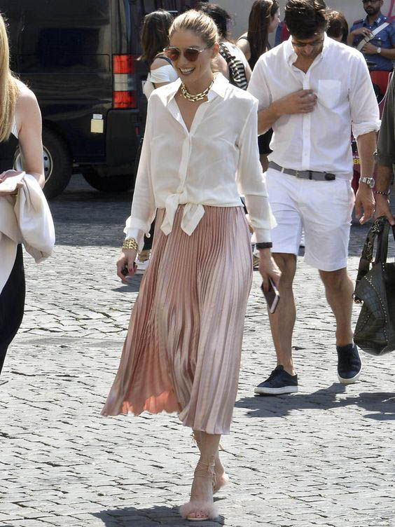 Sokak modası midi etek stilleri 2019