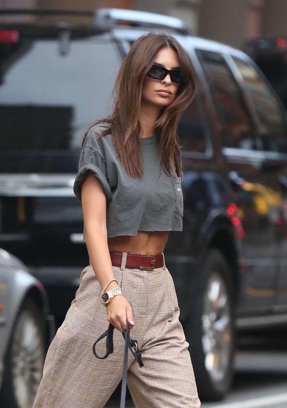Sokak modası yüksek bel pantolon stilleri 2019