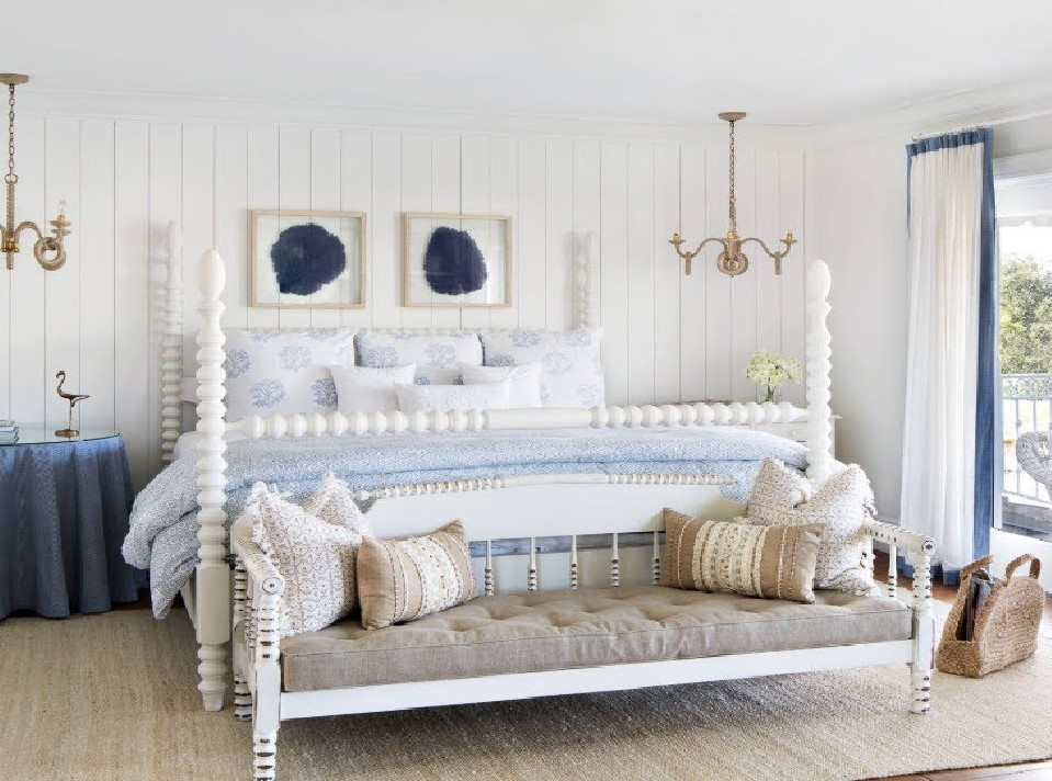 Yatak odası eskitme bank dekorasyonu 2019