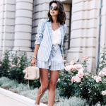 Yazlık sort ceket ve spor ayakkabı stili 2019