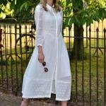 Yazlık uzun beyaz elbise modelleri 2019
