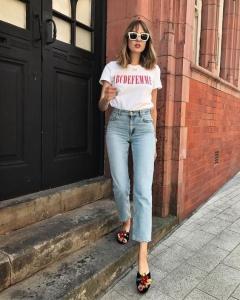 Yüksek bel kot pantolon modası 2019
