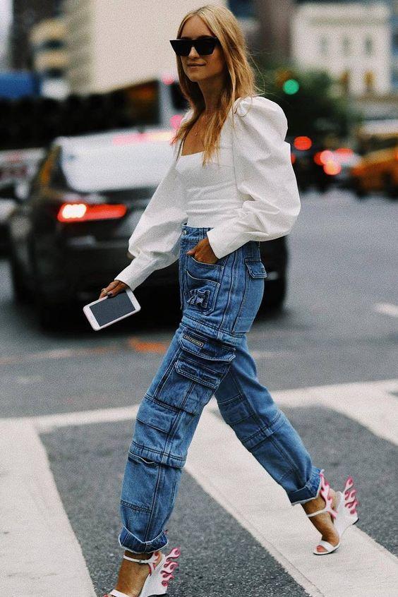 Yükselen trend kargo pantolonlar 2019