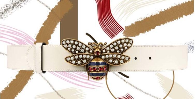 Gucci Kraliçesi Margaret Deri Kemer