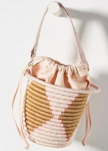 hasır dokuma kova çanta modeli 2019