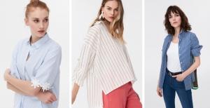 İpekyol 2019 çizgili kadın gömlek modelleri