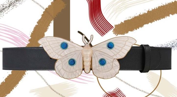 Kelebek Toka ile Gucci Deri Kemer