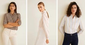 Mango çizgili gömlek modelleri 2019