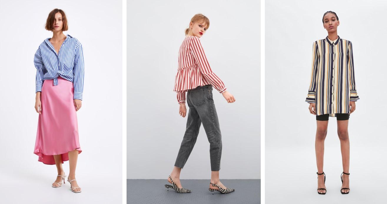 Zara 2019 çizgili kadın gömlek modelleri
