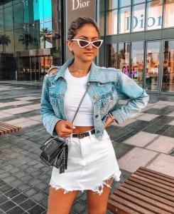 2019 yaz modası kot ceket kombinleri