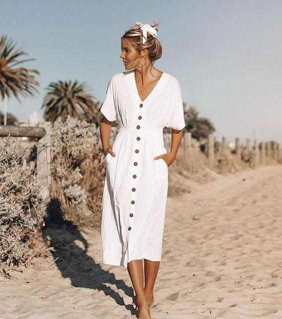 2019 yazlık beyaz elbiseler