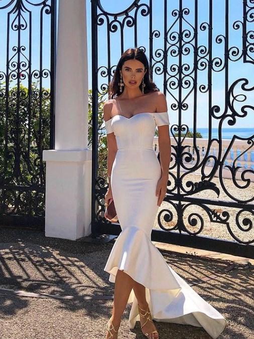beyaz kokteyl elbiseleri 2019 2020