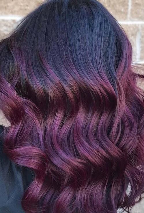 erik rengi ombre saç modelleri 2019