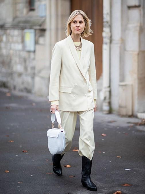 geniş paça pantolon ile çizme modası 2019 2020