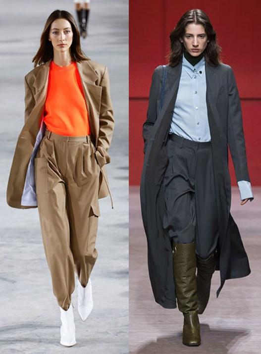 geniş paça pantolon ve çizme kombini