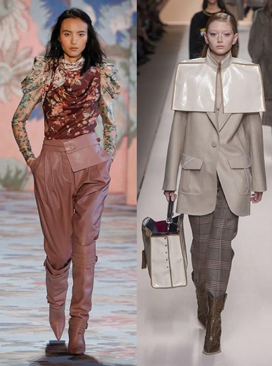 geniş paça pantolon ve çizme kombinleri 2020