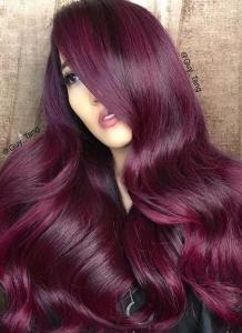 patlıcan rengi saç modelleri 2019 2020