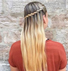 şelale örgü saç modeli 2019