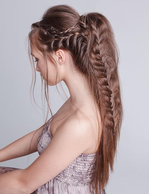 şelale örgü saç modelleri 2020